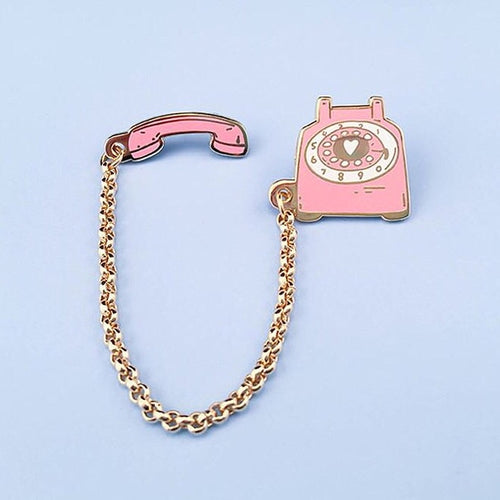 Pink Telephone Pin