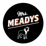 logo, Mrs. Meadys, black and white