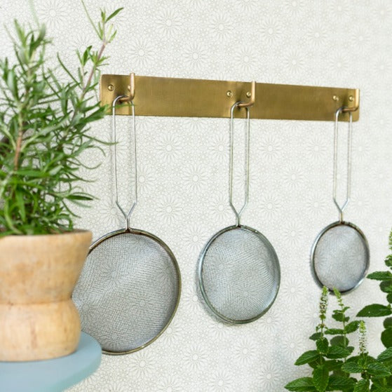 Brass Plate with Triple Hooks