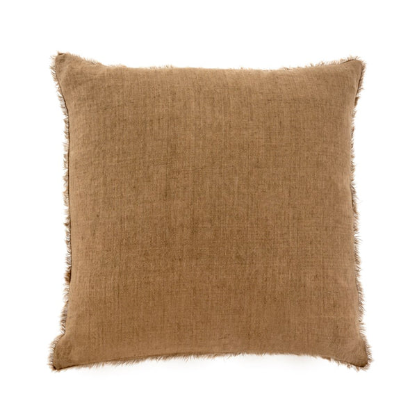 Lina Linen Pillow - Hazelnut
