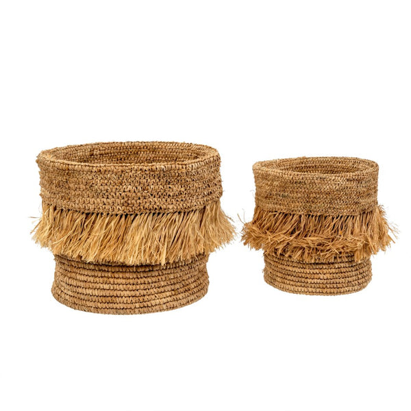 Fringed Sisal Baskets