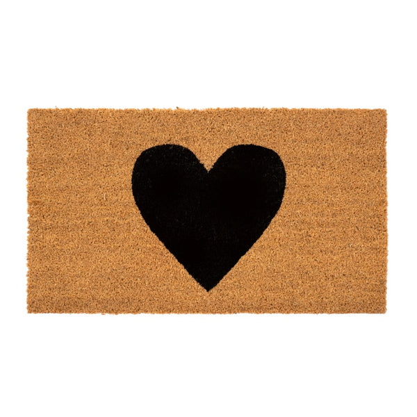 Heart Door Mat - Black