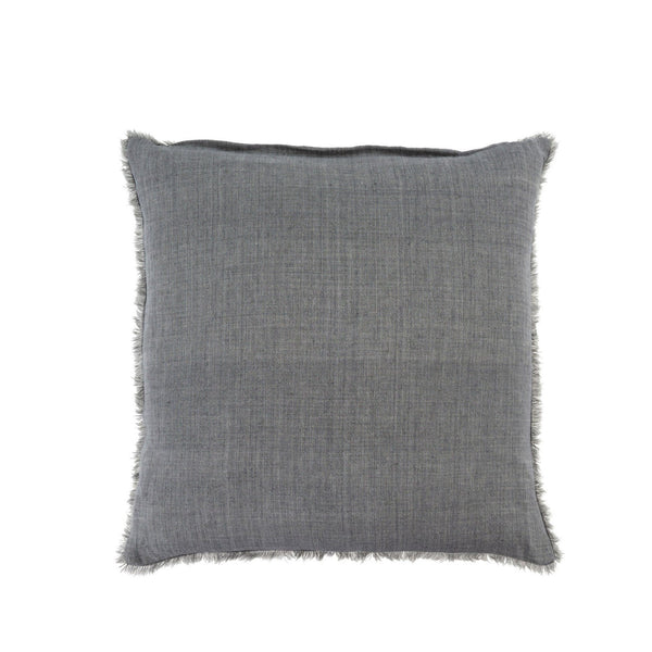 Lina Linen Pillow - Steel Grey