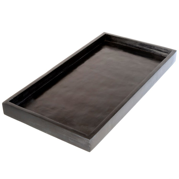 Rectangular Black Stone Tray - Large