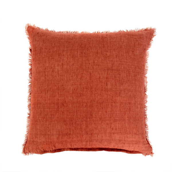 Lina Linen Pillow - Rust