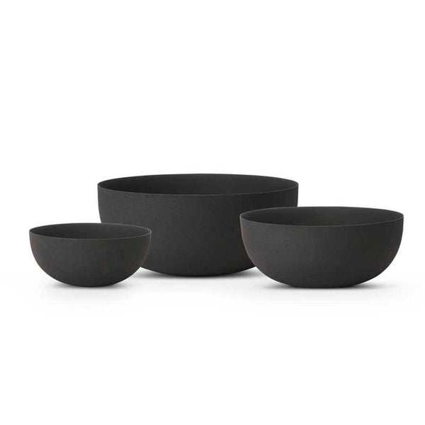 Black Matte Metal Bowls