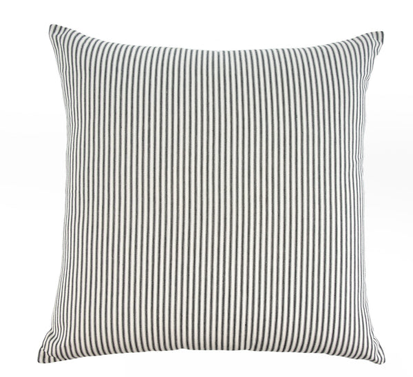 Ticking Stripe Pillow - Black