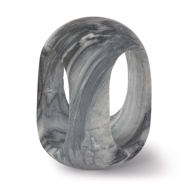 Callum Marble Sculpture - Large / Black