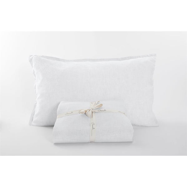 100% Linen Sheet Set - White / Queen