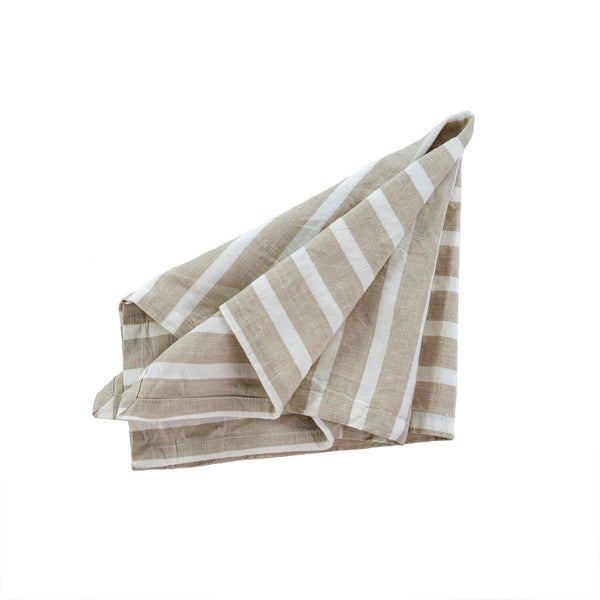 Positano Linen/Cotton Napkins - Taupe (Set of 4)