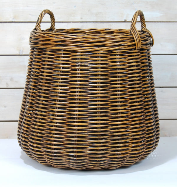 Rattan Basket w Antiqued Finish (Large)