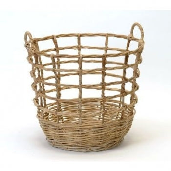 Rattan Open Weave Storage Basket