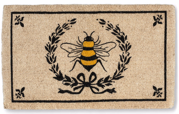 XL Bee Crest Door Mat