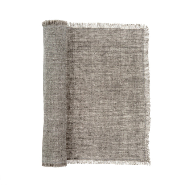 Linen Runner - Warm Grey