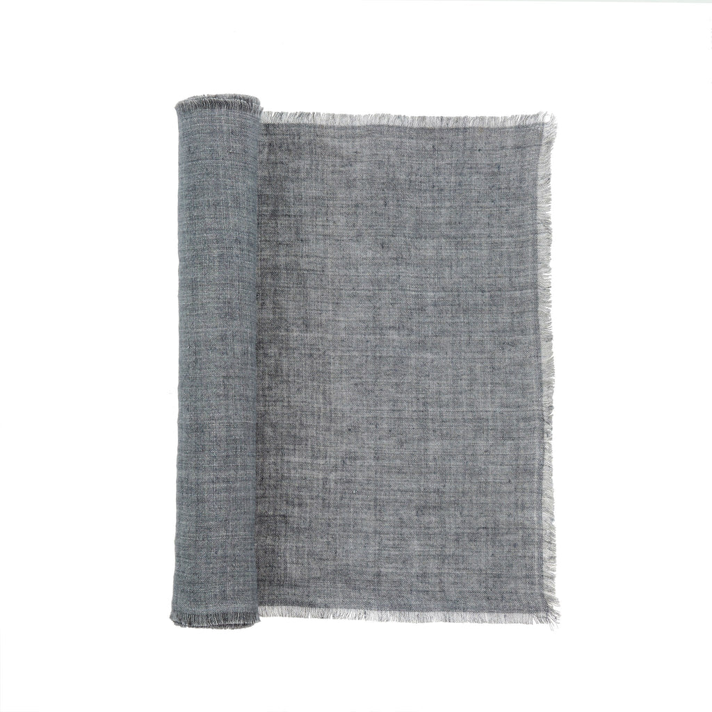 Linen Runner - Steel Grey