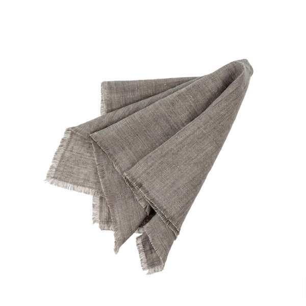 Set of 4 Linen Napkins - Warm Grey