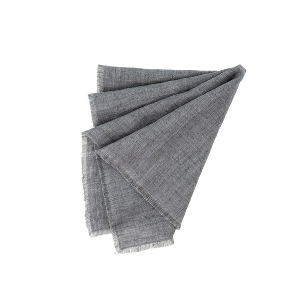 Set of 4 Linen Napkins - Steel Grey