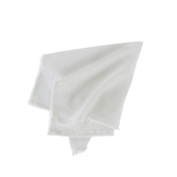 Set of Six Ivory Cotton/Linen Napkins
