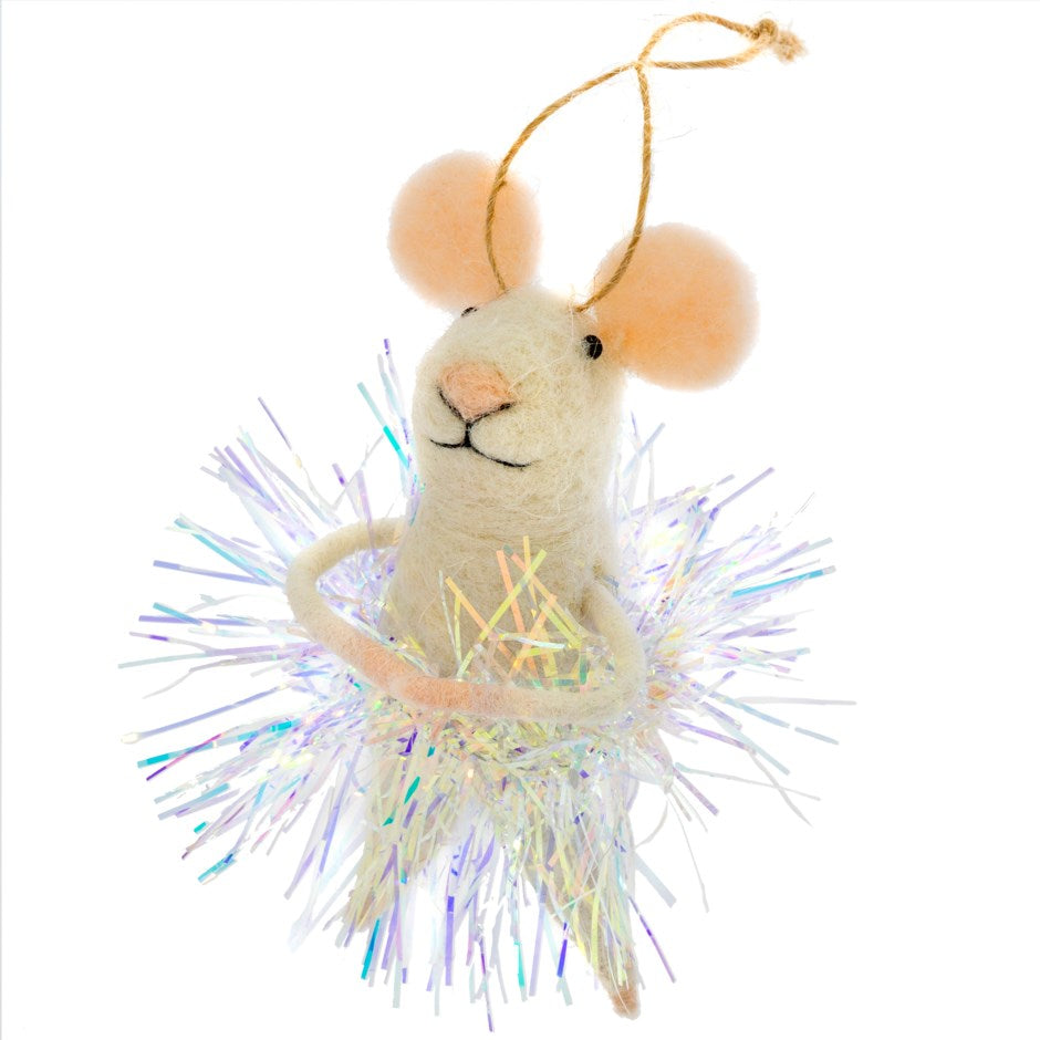 New Year's Eva Felted Mouse Ornament