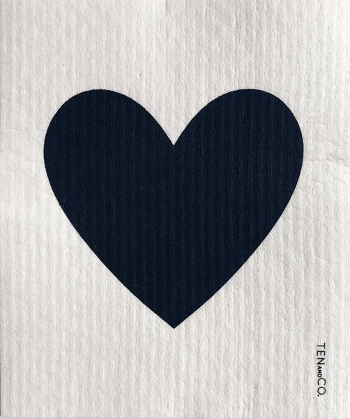Swedish Sponge Cloth - Big Love / Black