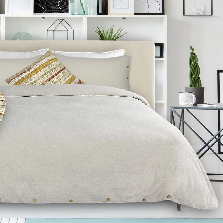 Coxen Linen Duvet + Pillow Case Set - Sand