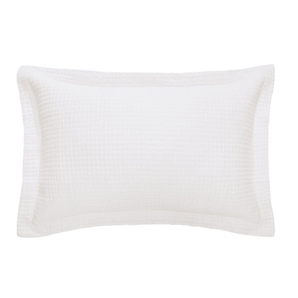 Quilted White Jersey Pillow Sham (Various Sizes)
