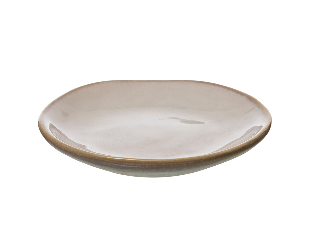Stoneware Plate with Reactive Glaze