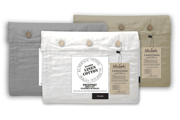Freeport Linen Sheet Set - Stone
