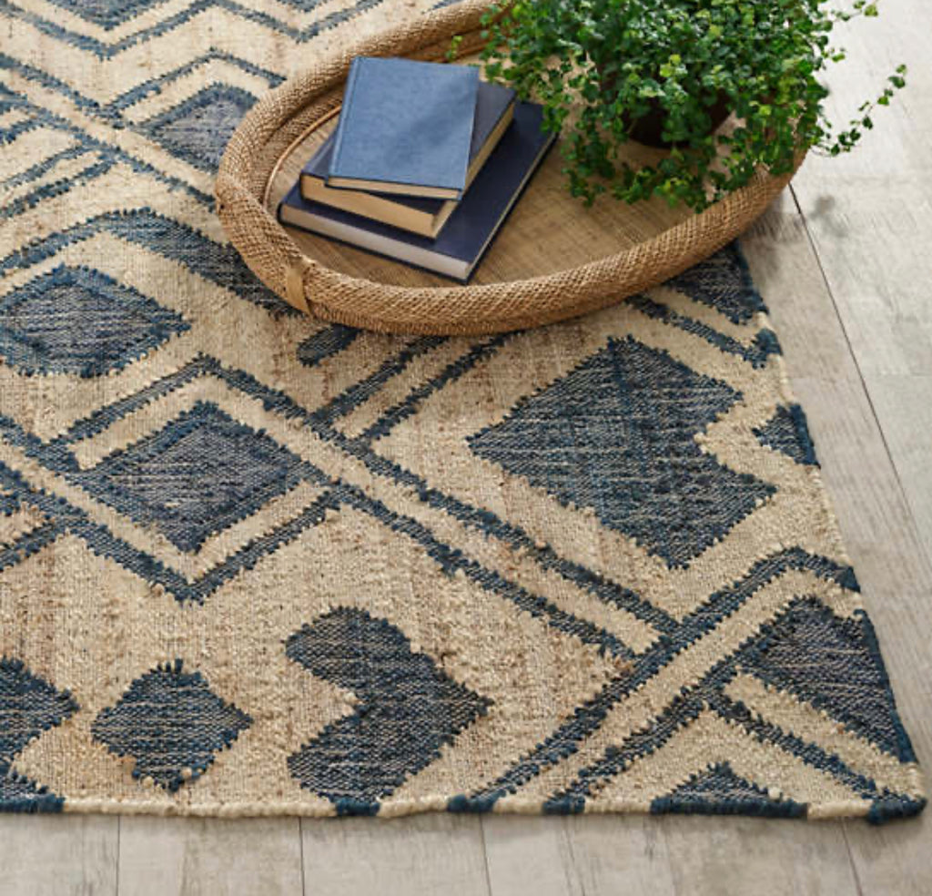 Dash and Albert -  Zinnia Blue Woven Jute Rug