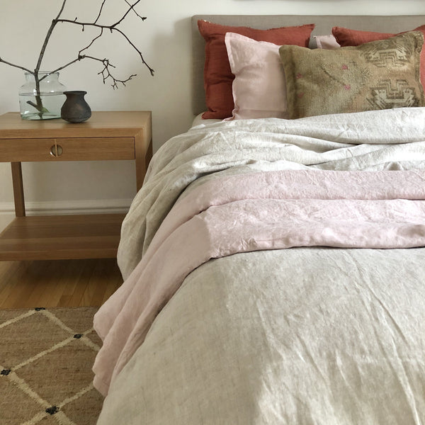 100 % Linen Duvet Cover - Natural