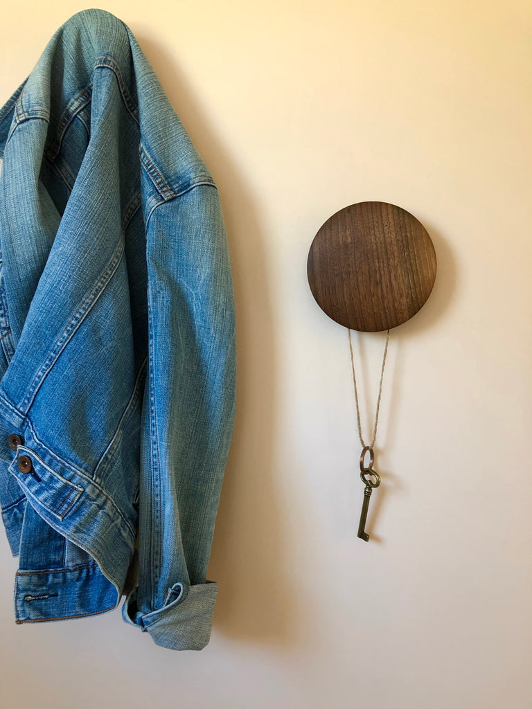 Hand-turned Walnut Hooks