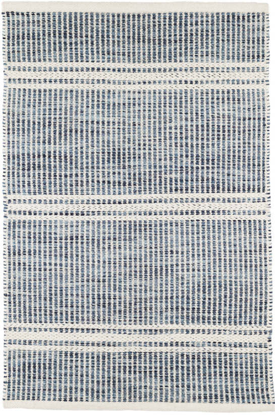 Dash and Albert - Malta Blue Woven Wool Rug