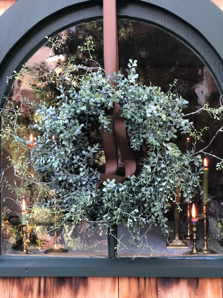 Blue Boxwood Wreath