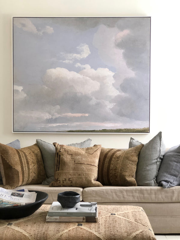 Serene Sky Landscape - FRAMED CANVAS
