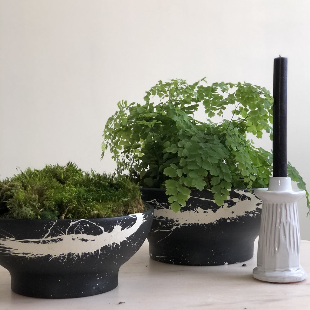 Footed Terra Cotta Planters (Two Sizes Available)