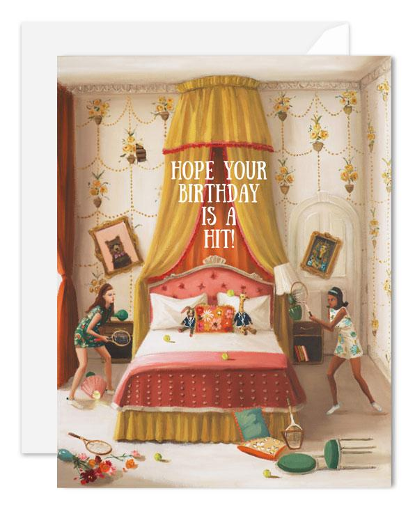 Hope Your Birthday Is A Hit Card from Janet Hill Studio