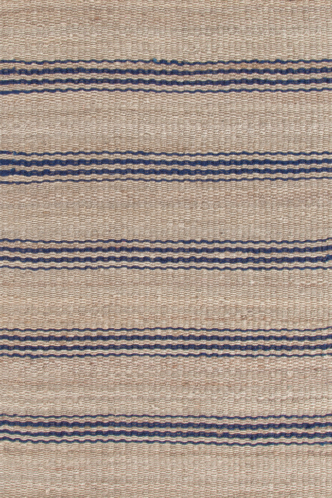 Dash & Albert - Jute Ticking Indigo Woven Rug