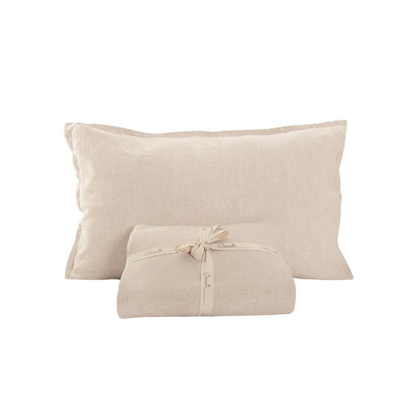 100% Linen Sheet Set - Natural / Queen