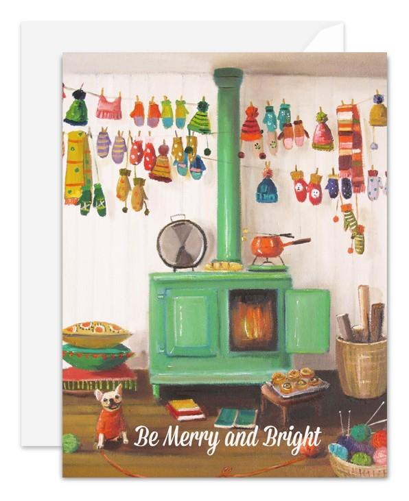 Be Merry and Bright Card from Janet Hill Studio