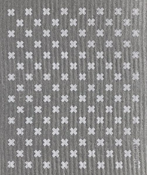 Swedish Sponge Cloth - Tiny X / Grey