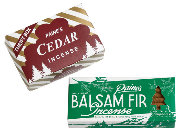 Paine's Balsam Fir Incense Sticks + Burner (25 Sticks)