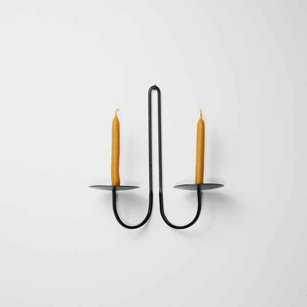 Iron Candle Holder - Double Arm