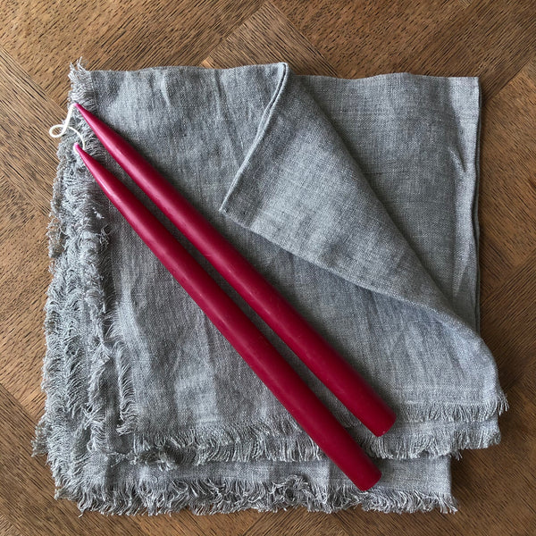 Pair of Hand-Dipped Danish Tapers - Berry