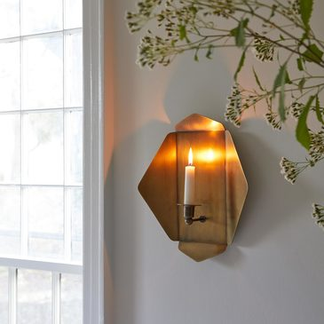 Plated Brass Wall Sconce
