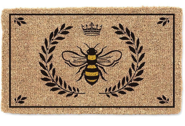 Bee Crest Door Mat