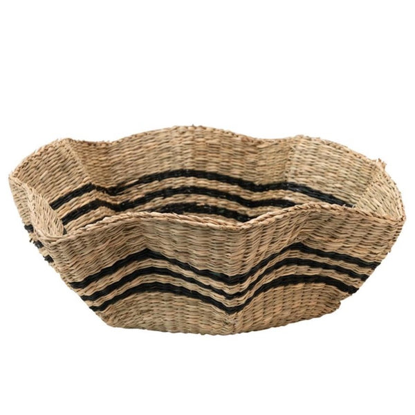 Noah Scalloped Seagrass Basket