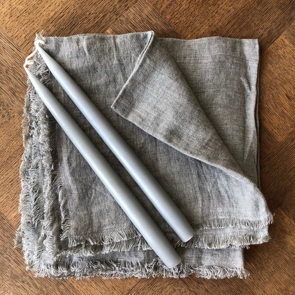 Pair of Hand-Dipped Danish Tapers - Cool Grey