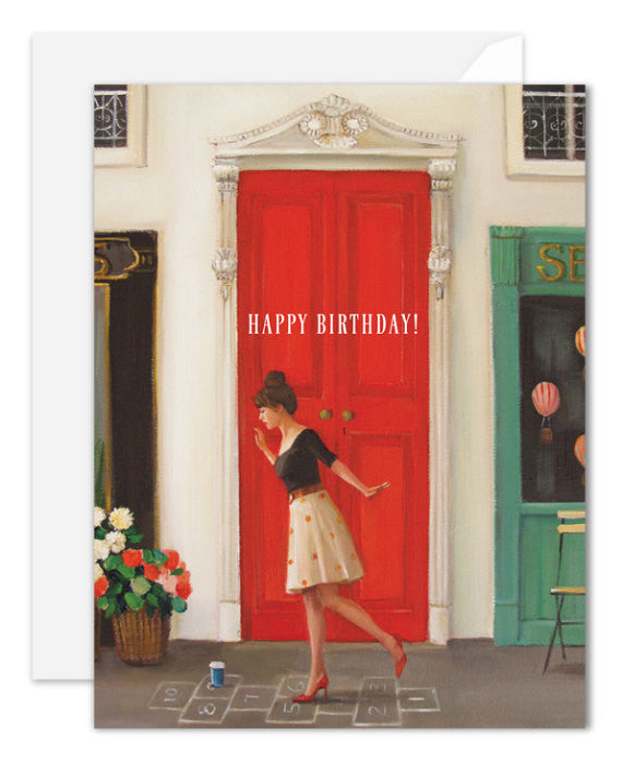 Hopscotch Birthday Card from Janet Hill Studio
