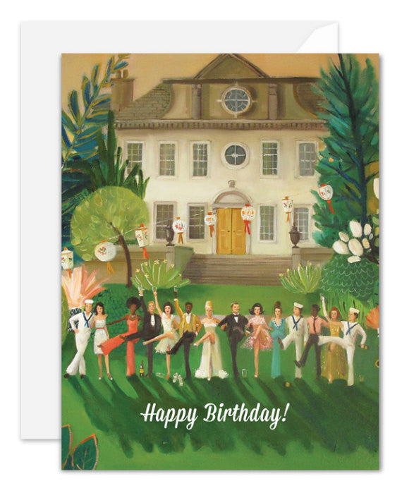 Whiskey Sour High Kick Birthday Card from Janet Hill Studio
