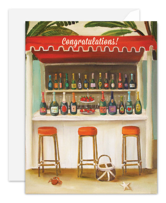 Champagne Shack Congratulations Card from Janet Hill Studio